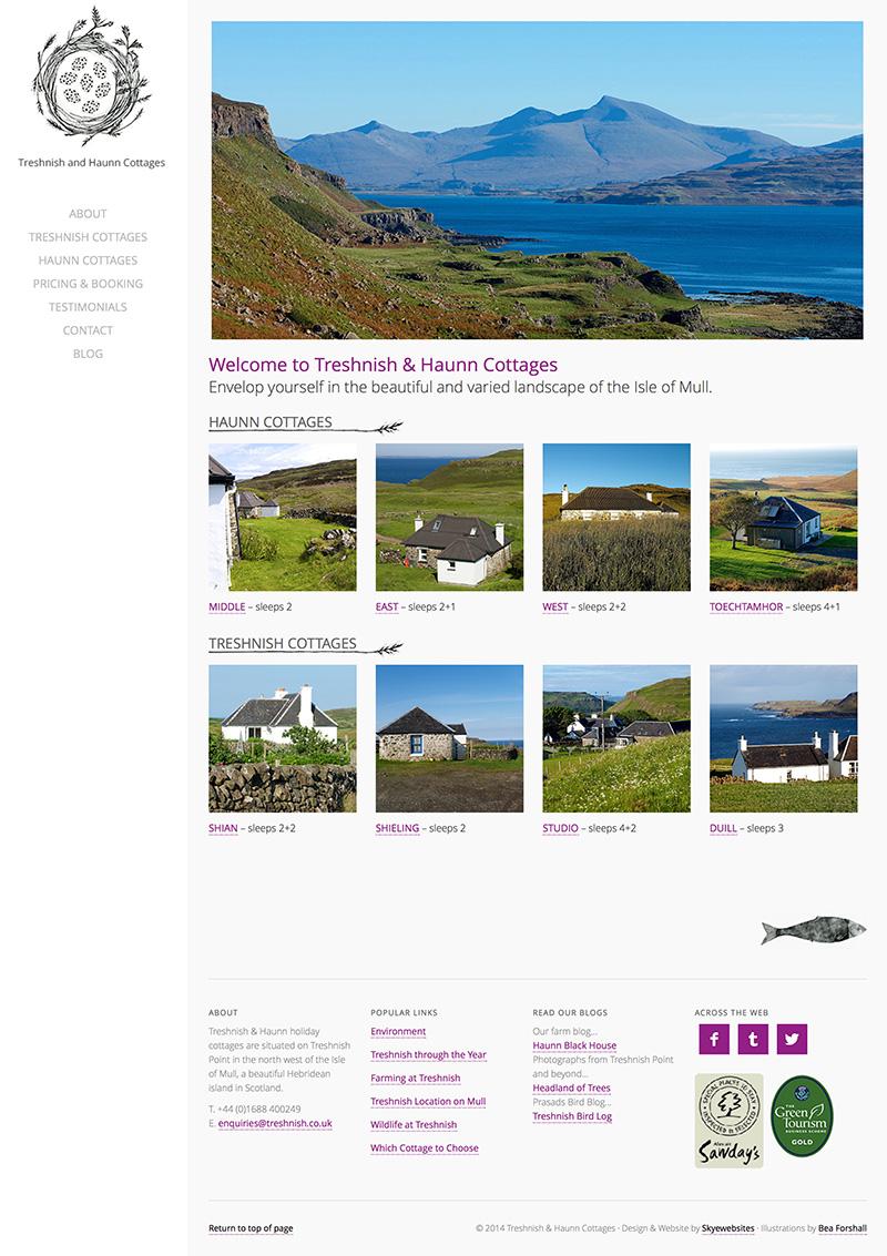 West Coast Media, Treshnish Farm Self Catering Cottages, Isle of Mull