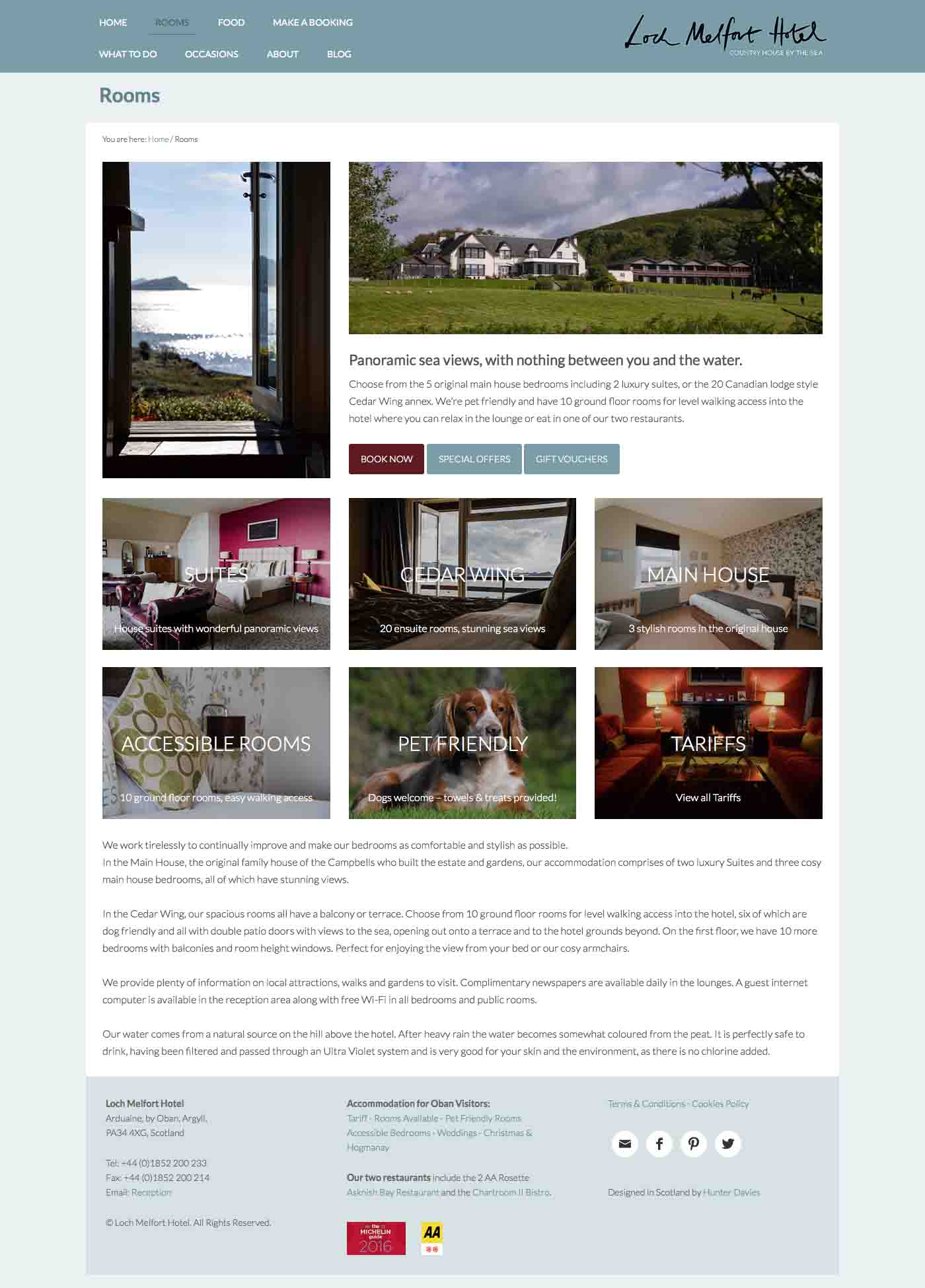 West Coast Media, Loch Melfort Hotel Rooms, Oban