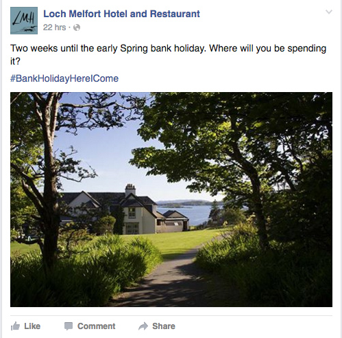 West Coast Media, Loch Melfort Hotel Social Media